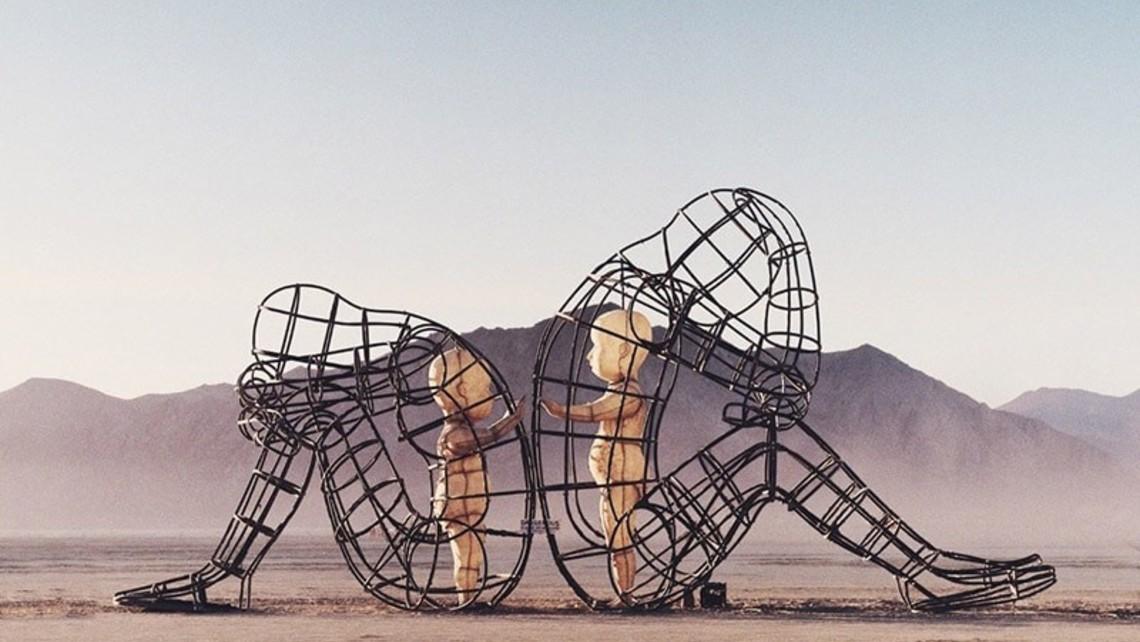 Burning Man Sculpture Inner Child Love Alexandr Milov2