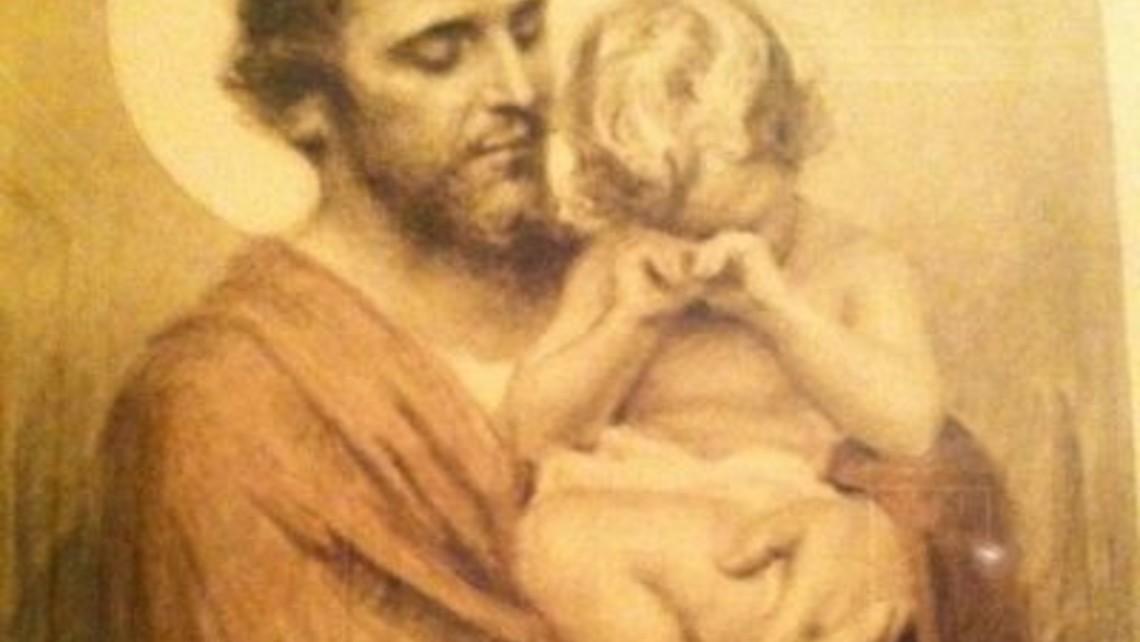 St Joseph And Crying Jesus