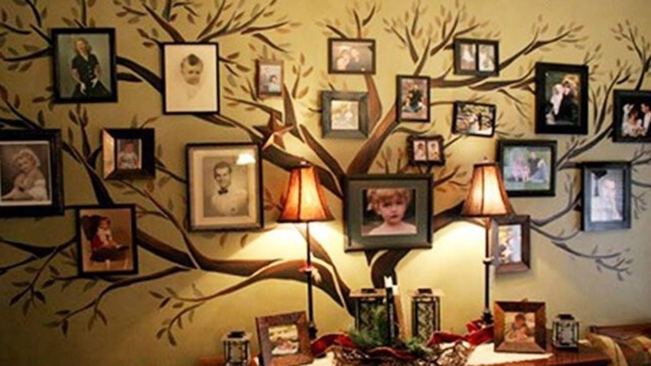 Family Tree Wall Art Wonderfuldiy12